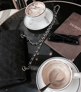 cafe, cappuccino and night