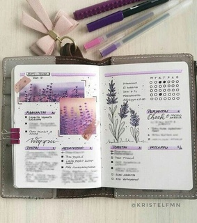 purple, bullet journal and plans