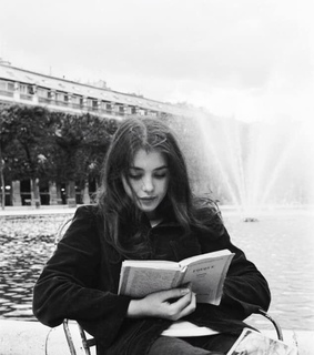 girls, reading and bw