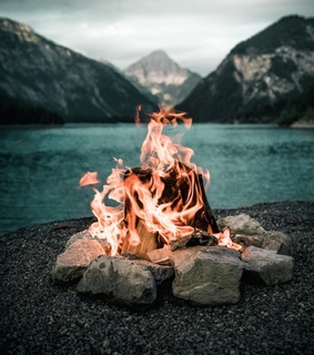 photography, travel and bonfire