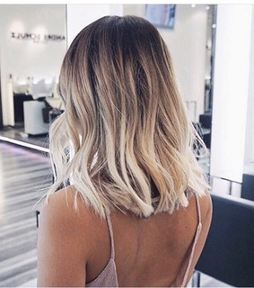 ombre, hair and short