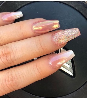 chic, diamond and sparkle nails