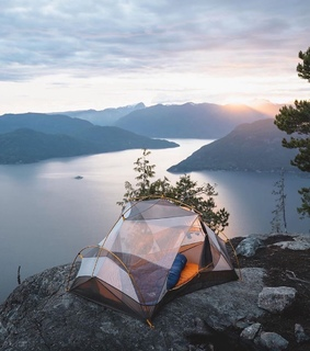 camping, view and traveling