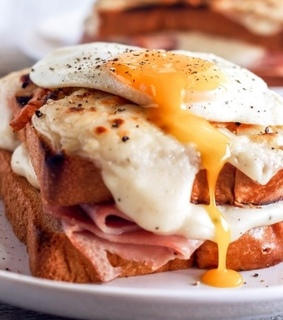 ham, eggs and food