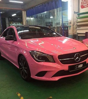 pink, luxury and mercedes