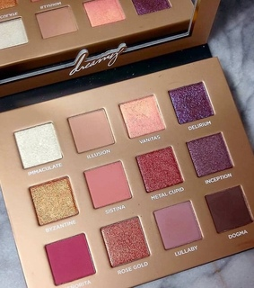 eyeshadowpalette, pink and cosmetics