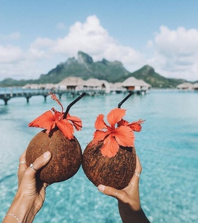 we heart it, travel and blue