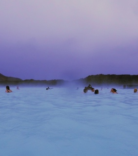 chillin, blue lagoon and iceland