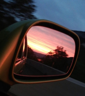 sunset, no filter and Road Trip