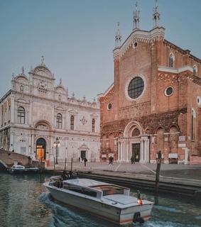 italy, cityscape and boat