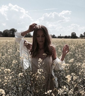 field, slip dress and fashion