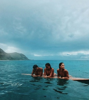 girls, surf and friends