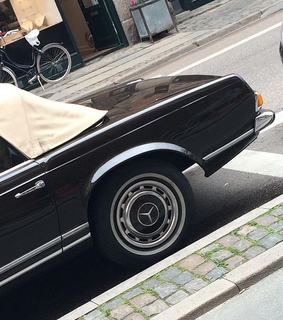 car, vintage and convertible