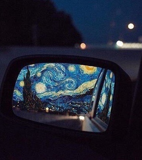 van gogh, photo and mirror