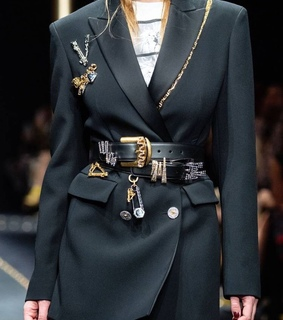 Versace and black