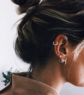 earrings, piercing and jewelry