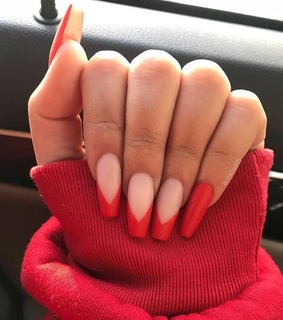 red, manicure and red nails