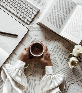 notes, coffee and motivation