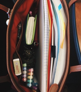 school, organization and backpack