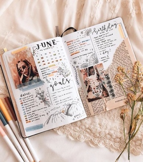 june, notes and creative