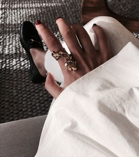 nails, necklace and ring