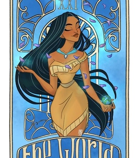 princess, pocahontas and tarot cards