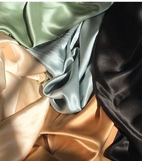 silk, black and fabric