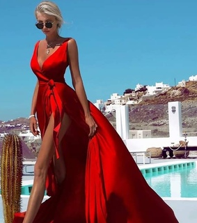 dress, red dress and luxury style