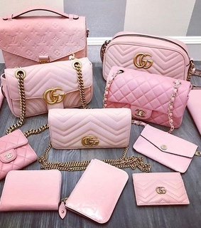 pink, chanel and vuitton