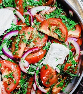 tomato, food and onion