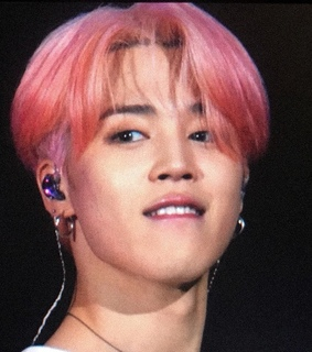 park jimin, fansite and pink hair