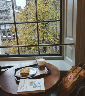 peaceful, reading and coffee