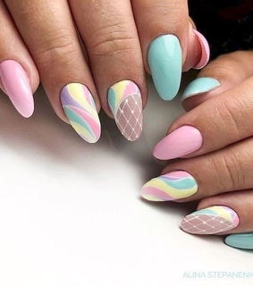 beauty, nail art and summer nails