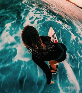 surfing, water and wetsuit