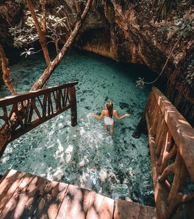 natural pool, grotto and girly