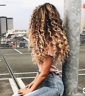 girl, cute and curls