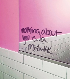pink, anxiety and mirror