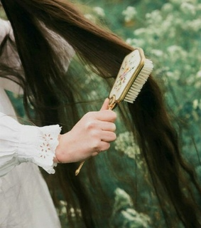 fairy, vintage and hairbrush