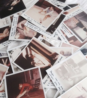 Taylor Swift, polaroids and quotes