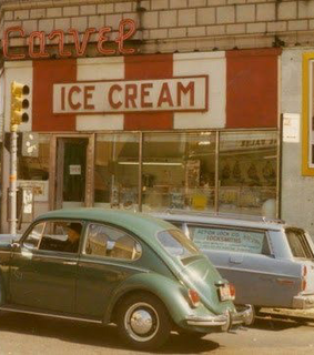 car, ice cream and old