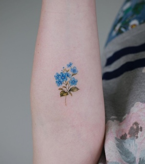 pretty, forget me not and cute