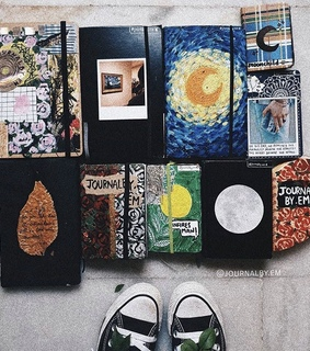 school, painting and aesthetic