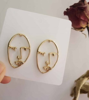 abstract, jewelry and earring