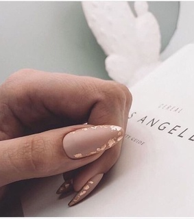 nails, manicure and gold