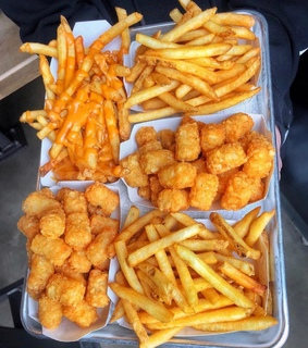 fries, photography and tater tots