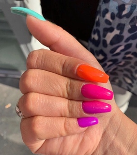 color, colorful and nailspink