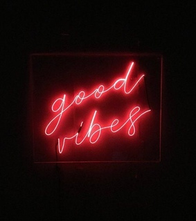 love, neon sign and good vibes