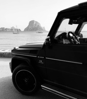 jeep, black and white and car