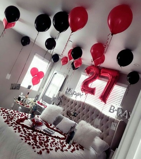 decorations, surprise and party