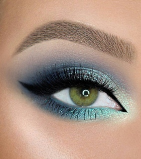 turquoise, make up and makeup